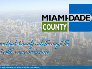 Miami Dade County cuts through the FOG with a new ordinance